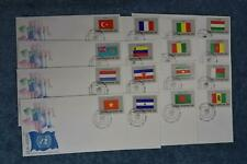 1980 Flags Fdc Set - Singles