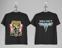 New Vtg Van Halen Worldwide Tour 1981 t shirt GILDAN reprint