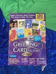 Nova Greeting Card Factory Deluxe version 5 Windows XP 98 2000 & ME XP