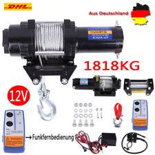 12V Elektrische Seilwinde Motorwinde Offroad 12 Volt 1818kg Funkfernbedienung EV