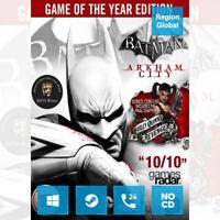 Batman Arkham City GOTY Edition for PC Game Steam Key Region Free