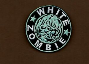NEW 3 INCH WHITE ZOMBIE ROB ZOMBIE IRON ON PATCH FREE SHIPPING
