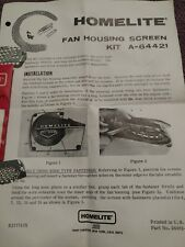 NOS Homelite Starter Cover Screen Kit 64421  VI-944 955 XL-98A XL-925 800 923