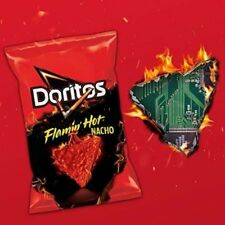 Doritos Flamin' Hot Nacho Chips 9.75 oz Full Size Bag New and  Hard to Find