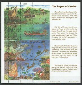PK102 1998 PALAU FISH & MARINE LIFE THE LEGEND OF ORACHEL 1SH MNH STAMPS