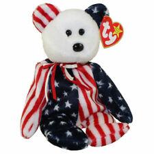 0ac84582bff NWT TY Original Beanie Baby - SPANGLE the Bear (White Head Version) 1999
