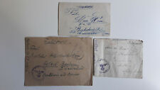 Feldpost Letters Lot Of 3 WW2 Germany 1941 and 1943  Paris