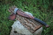 Hand Forged Viking Axe High Carbon Steel with Leather Case Hand made