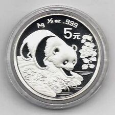 Panda 1994 China 5 Yuan 1/2 Unze Silber ST / BU