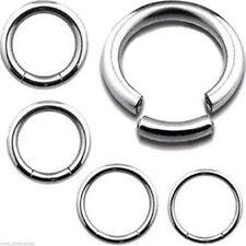 "Segment Seamless Ring Heavy 8 Gauge 9/16"" Steel Body Jewelry"