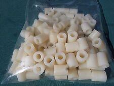 "Nylon-Plastic-Bushing-Spacer-RollerSleeve-1/2"" Wide X 5/8"" Long X 1/4""ID 100 Bag"