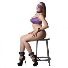 Strict Leather Purple Premium Leather Bondage Essentials Kit Love Cuffs Collar D