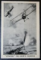 Royal Flying Corps  RAF   Ground Attack     World War 1  Tribute Card  VGC