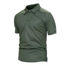 TACVASEN Mens Quick Dry Tactical Combat Polo T-Shirt Military Hunting Top Shirts