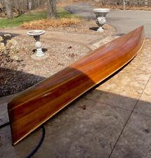 18' Ribless Cedar Strip Canoe |Fiberglassed Interior and Exterior | Local Pickup