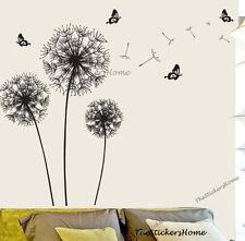 Huge Dandelion Flower Transparent Wall Sticker Art Decal Mural Paper Decor Black