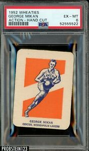 1952 Wheaties Basketball Hand Cut George Mikan Action Lakers HOF PSA 6 EX-MT