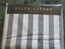 RALPH LAUREN DUVET SET IN CLASSIFICATION CLUB STRIPE CHARCOAL