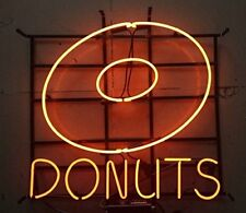 "New Donuts Coffee Sweet Bakery Food Shop Open Light Neon Sign 24""x20"""