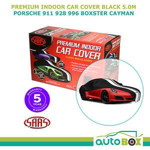SAAS INDOOR SHOW CAR COVER PORSCHE 911 928 996 BOXTER CAYMAN fits 5.0m Black