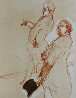 Claude Weisbuch: Los Abogados - Litografía Original #1984 +COA