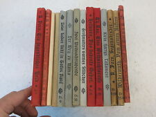 Lot of 14 CHILDREN'S ILLUSTRATED ANTIQUE GERMAN BOOKS 1900-1920s Color Plates