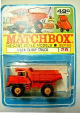 Matchbox 28D Mack Dump Truck seltener canadischer Blister