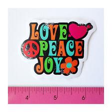 Skateboard Luggage Guitar Laptop Vinyl Decal Sticker - Love Peace Joy Flower