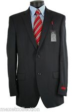 Alfani RED Men's Jacket Black Stripe Side Vents Two Button Wool Sport Coat 44R