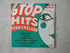 "45T 7"" MC GUINESS FLINT, DAVE EDMUNDS ""6 Top hits from England"" TOP 6 - 203A µ"