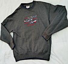 MC Sport Men's L Sweatshirt HOOKS SINKERS BOBBERS LIFE ESSENTIALS Fishing gray