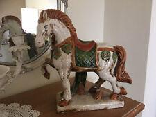 Pferd Keramik Figur Skulptur Pferd Fein gearbeitet Edel H30 cm