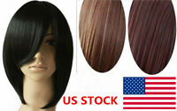 Fashion Short Wig Black Brown Straight Party Cosplay Women's Hair Wig 30cm Wigs