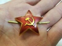 SOVIET military USSR RED STAR w/ hammer and sickle Military Cockade ORIGINAL
