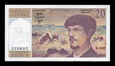 B-D-M Francia France 20 Francs Claude Debussy 1980 Pick 151a EBC XF