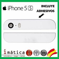 CRISTAL CAMARA LENTE APPLE IPHONE 5S EMBELLECEDOR BLANCO PARTE SUPERIOR INFERIOR
