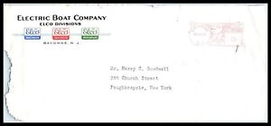 1948 US Cover - ELCO, Electric Boat Co, Bayonne, New Jersey, Meter D9