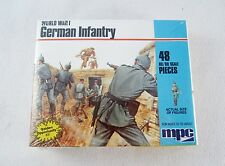 1983 MPC 1/72 World War I 48 Piece German Infantry Soldiers No. 1-6019 New