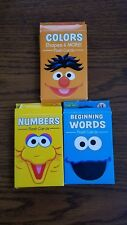 Sesame Street Flash Cards ~ Beginning Words ~ Numbers ~ Colors, Shapes & More
