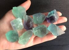 x2 Rainbow Fluorite Raw Crystals 20-30mm Clarity Dreams Chakra Discernment Peace