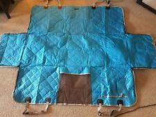 iBuddy Car Back Seat Cover Blue * Dogs Pets Mesh Window * Waterproof New Open