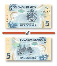 Solomon Islands 5 Dollars 2019 Unc Polymer Pn 38a, Banknote24