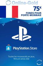 Compte français - Carte Playstation Network 75 EUR - €75 PSN Jeu PS3 PS4 PS Vita