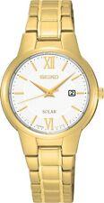 Seiko SUT232 SUT232P1 Ladies Solar Watch Gold WR30m NEW RRP $545.00
