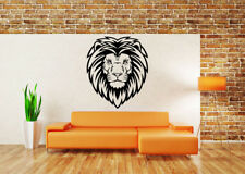 Wall Vinyl Art Sticker Lion Head Cat Wild Animal Zoo Animation Decal Decor hi115
