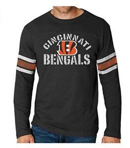 Cincinnati Bengals Men's Corner Blitz Long Sleeve Shirt - Black