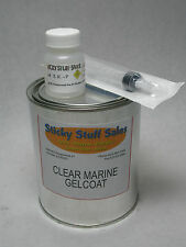 Professional grade CLEAR marine gelcoat w/MEKP*great with carbon**no wax* 1Quart