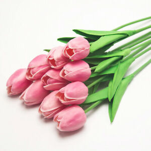 Touch Artificial Garden Flowers Bouquet Tulips Home Flower Wedding Decoration
