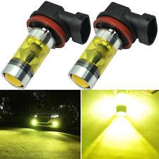 2x 100W High Power H11 H8 LED Fog Light Samsung 4300K Yellow Driving Bulbs DRL