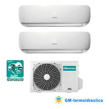 Climatizzatore Dual Split Inverter Hisense Mini Apple Pie 12000+12000 Btu A++ 70